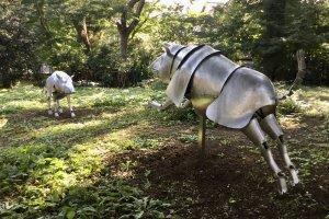 The garden has periodic art installations