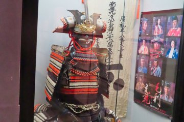 Hiroshima Castle weapons and armour exhibit