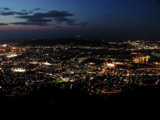 Night view from the top of Mt. Sarakura