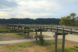 Horai Bridge: the world's longest wooden pedestrian bridge, nearly 900m long!