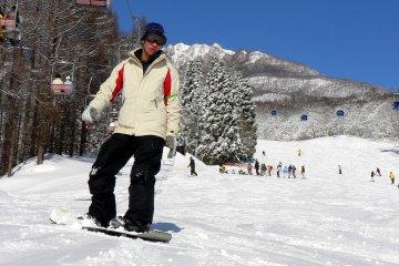 <p>นักเล่นสกี</p>