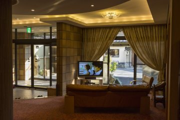 The hotel lobby offers a welcoming and relaxing environment.