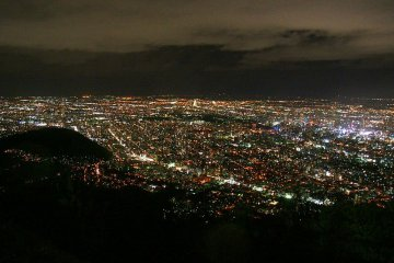The night view of Sapporo from Mount Moiwa