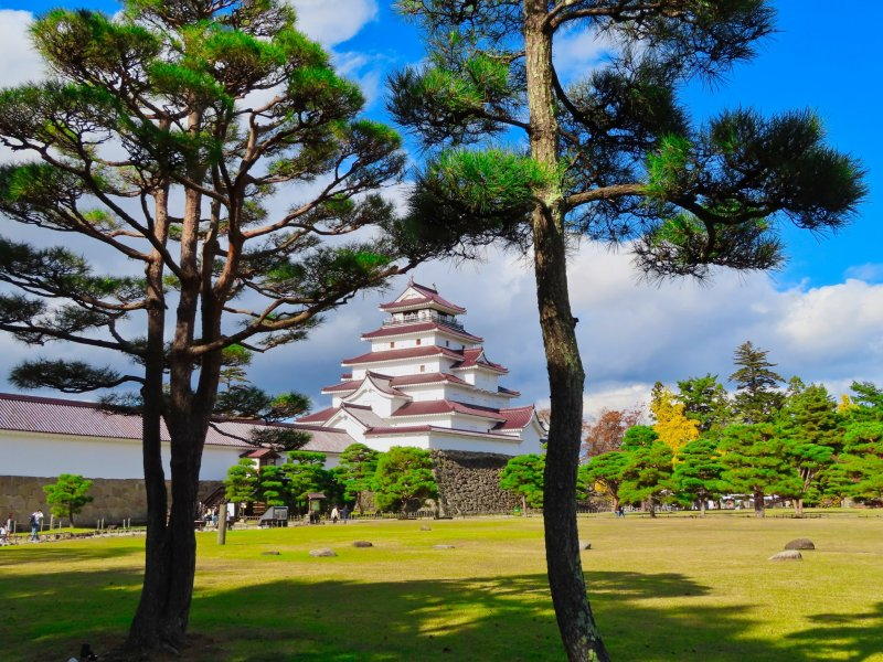 View of Tsurugajo Castle grounds