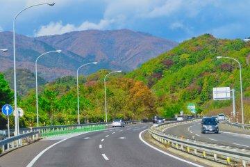 Bus ride from Koriyama to Aizu-Wakamatsu