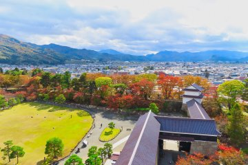 Fall colors at Tsurugajo Castle