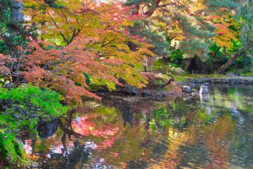 Oyakuen Garden reflections