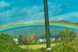 View from train to Inawashiro