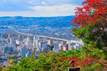 View of Fukushima city from Observation Platform One