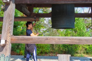 Hiro ringing the Bell for World Peace