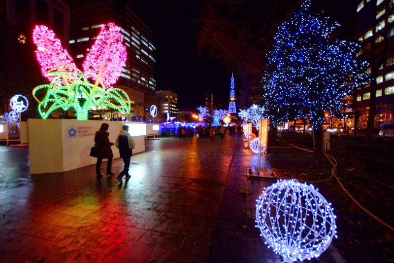 The event takes place at numerous spots across Sapporo
