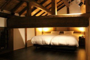 The indirect lighting creates a beautiful, relaxing atmosphere at night