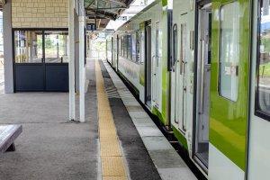 JR East Tono Station services the JR Kamaishi Line for Hanamaki and Kamaishi