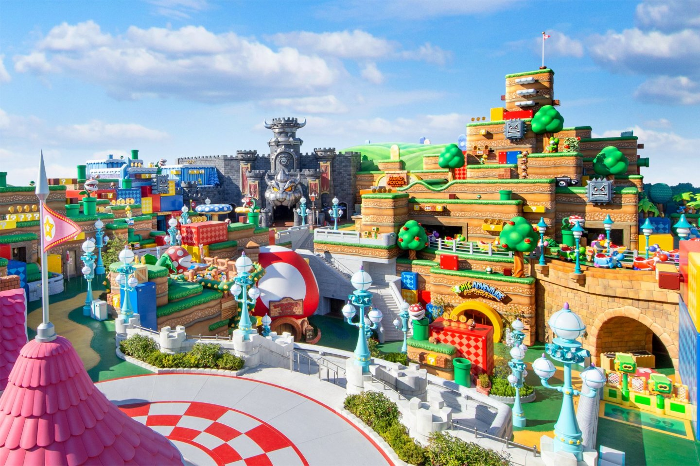 The Mushroom Kingdom in all its splendor