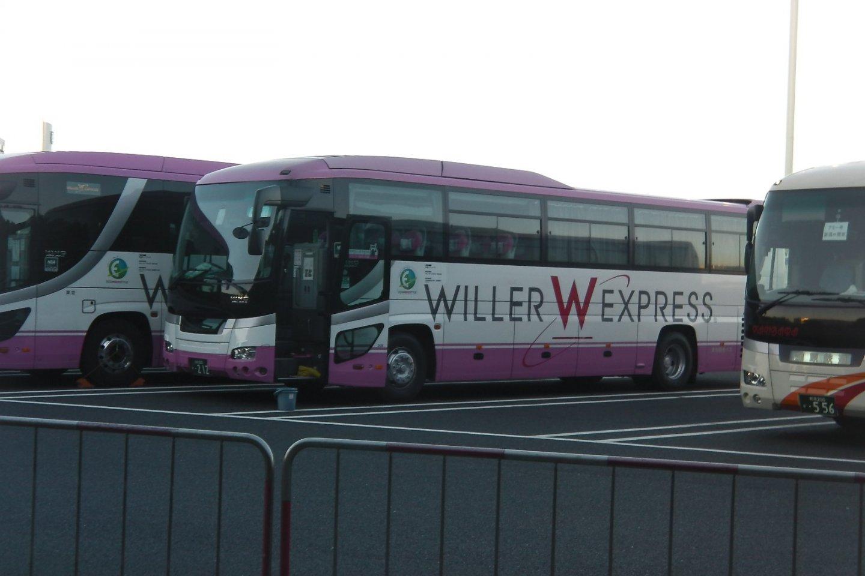 Willer Express parked in Chiba\'s Tokyo Disney Land