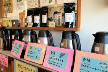 Free green tea tasting from various regions
