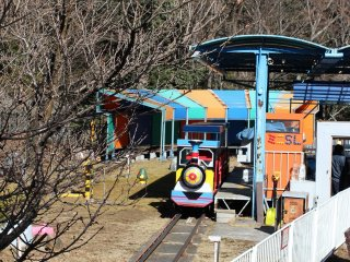 And probably the most popular attraction in the park - a mini train that goes around part of the park.