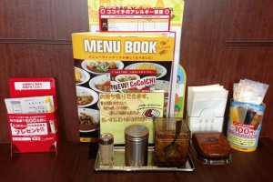 Coco Ichibanya's has menus in Japanese, English, Korean, Chinese, and Thai