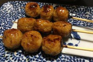 Yuzu tsukune (ground chicken balls with yuzu)