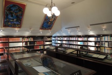 A room with displays and references to sister cities