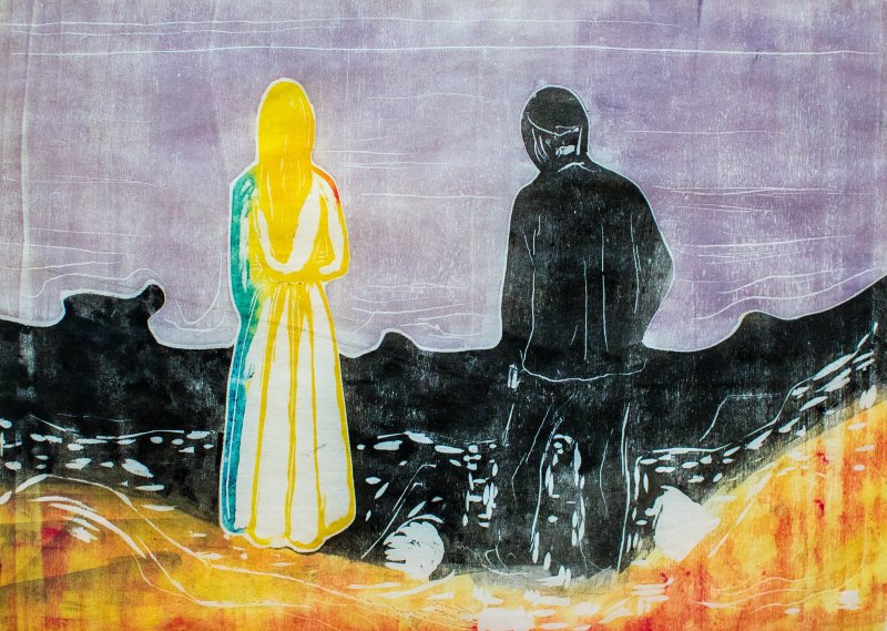 """Edvard Munch's """"Two People: The Lonely Ones"""""""