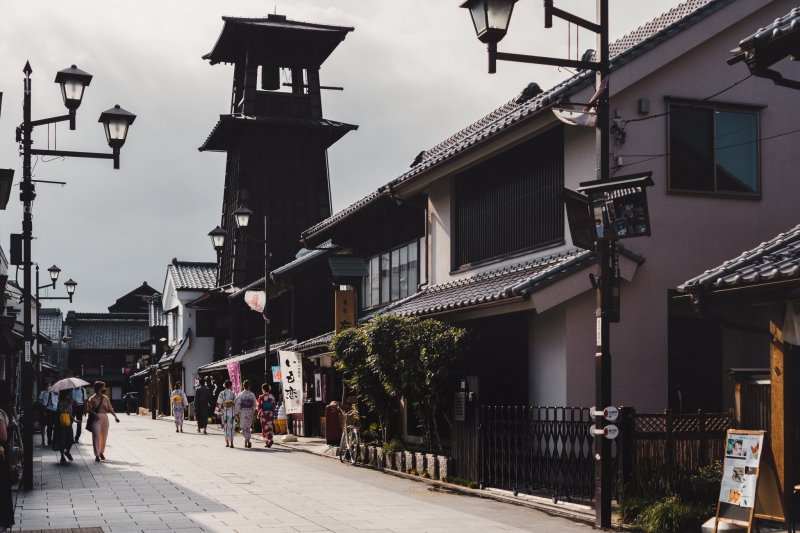 Kawagoe is easily accessible from Tokyo