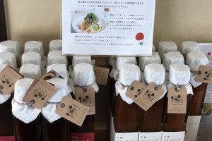 The farmers produce all kinds of ume products, like ume sauces