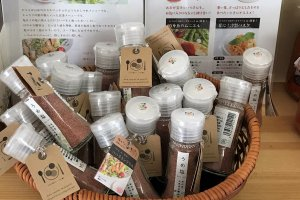 Ume-flavored salt is also sold at the little cafe
