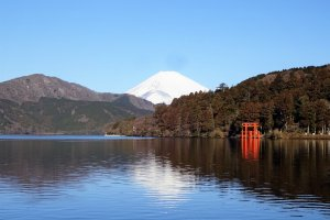 The Fuji-Hakone National Park offers the iconic view of Mount Fuji in clear water, plus a lot of forest