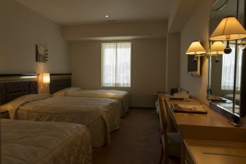 Triple rooms are nice for those traveling as a family
