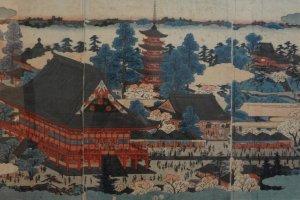 Pintores de Ukiyoe, como Hokusai e Hiroshige, criaram fantásticas obras que retratam a ilha e que chegaram aos nossos dias