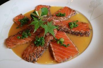 Aburi Salmon with Yuzu Miso