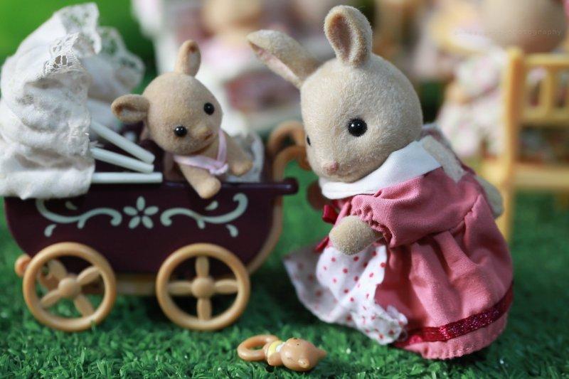 An example of Sylvanian Families dolls