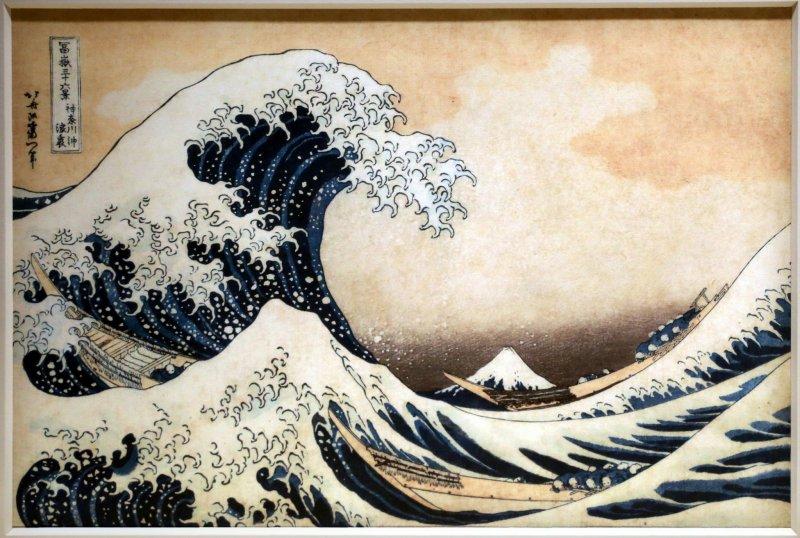 "Hokusai's famous ""The Great Wave off Kanagawa"""