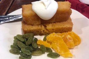 Goku set. A fluffy sponge cake with dried fruits