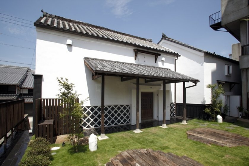 Traditional Japanese kura warehouses, renovated and re-used as a resturant