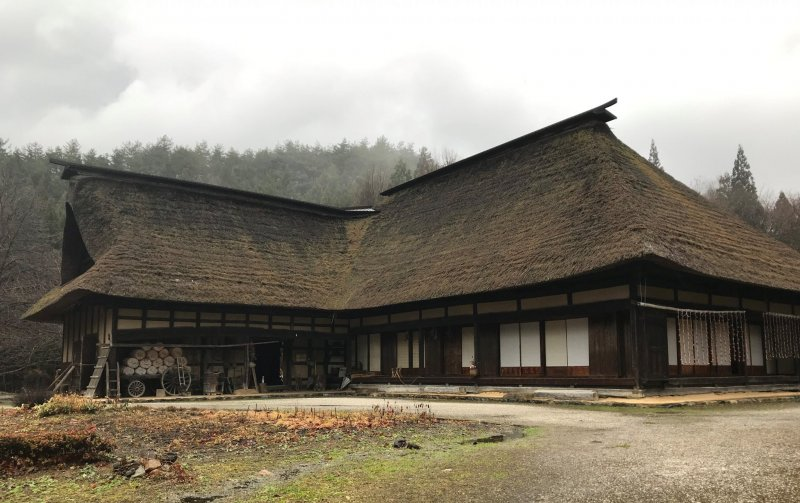 A magariya is a traditional L-shaped house in the Tono area.