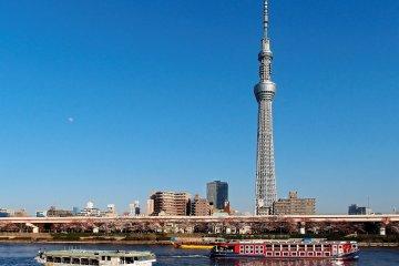Tokyo Skytree across Sumida River