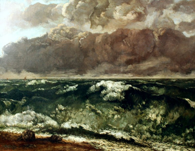 One of Courbet's works depicting the sea