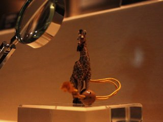 A Netsuke giraffe