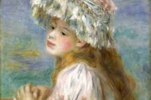 "Renoir's ""Girl in a lace hat"" (1891)"