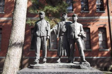 Outside the 4th High School Memorial Museum