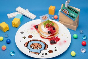 There are several sweet dishes too, like these berry pancakes