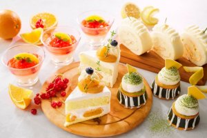 The afternoon tea for June focuses on local ingredients in the sweets on offer