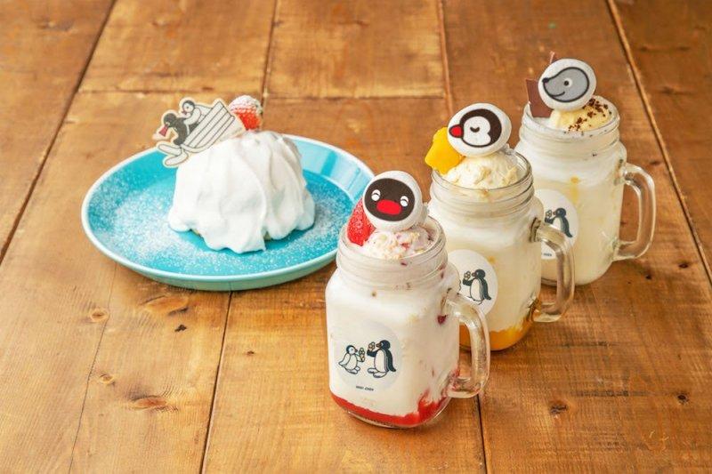 Ice cream floats and Pingu snowy mountain pancakes