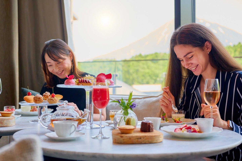 Enjoy an afternoon tea with views of Mt. Yotei and the Niseko mountain range
