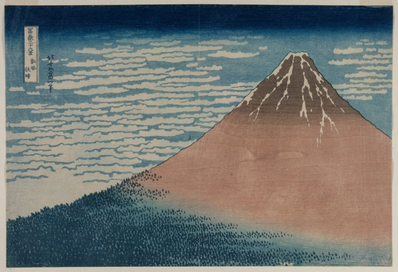 """Hokusai's """"Fine Wind, Clear Morning"""""""