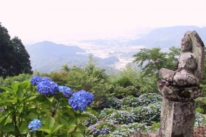 The grounds also afford some great views over Takeo City
