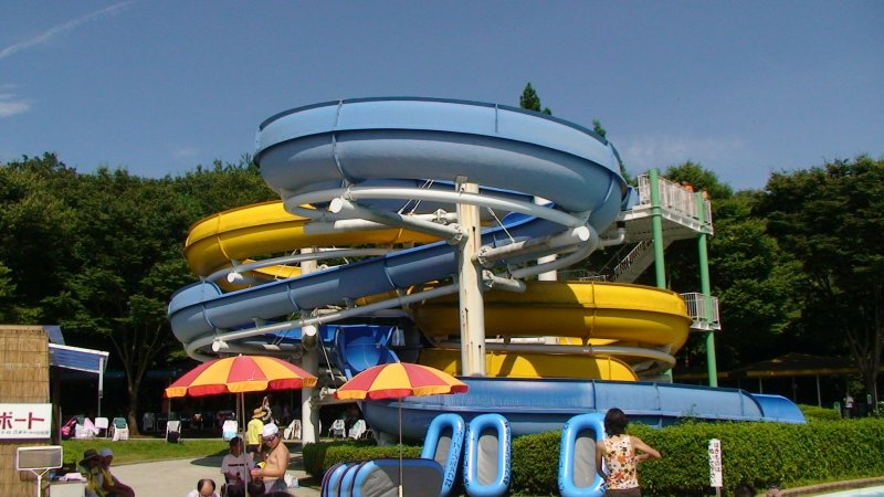 Water Slides at Nasunogahara Water Park