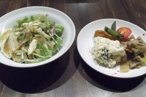 Salad and veggies
